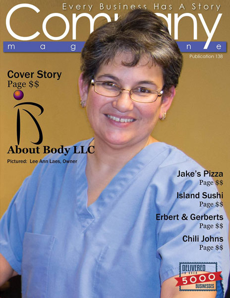 Lee Ann Laes featured on the cover of Company Magazine